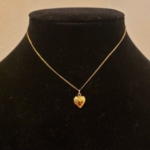 Gold 1/20 12K GF Heart Locket & Chain
